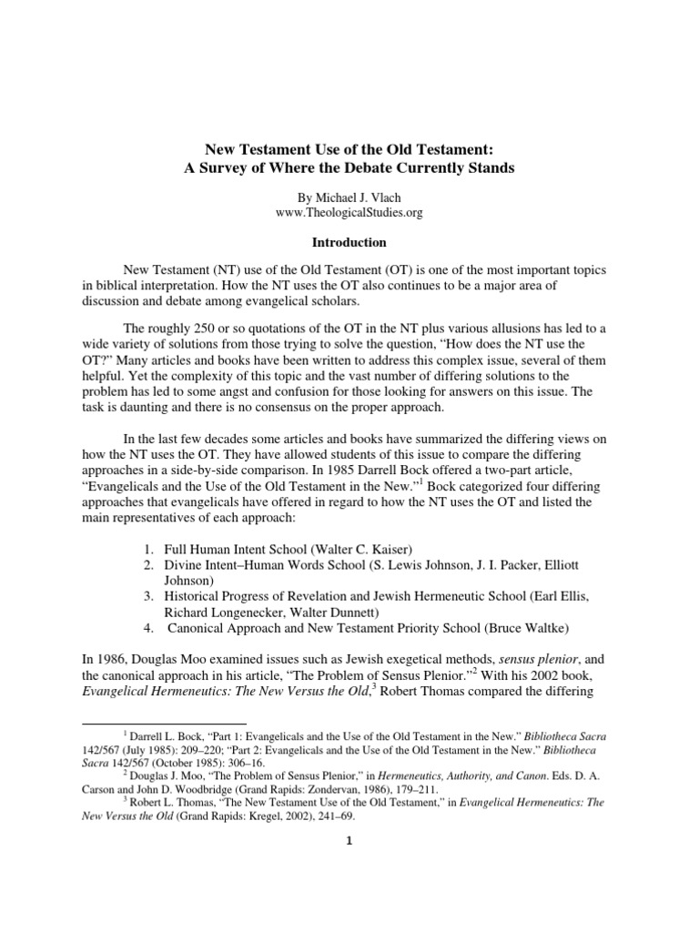 old testament topics
