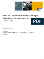 How to Promote Reports and Input Schedules Through Your System Landscape