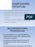 LA DECODIFICACIÓN METATEXTUAL