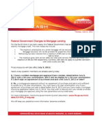 Mortgage Lending Changes July 2012