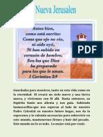 """Promesa """"La nueva Jerusalen"""