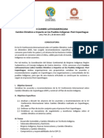 Convocatoria II Cumbre Latinoamericana Cambio Climático e Impacto en los Pueblos Indígenas