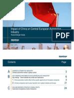 China Impact on European Automotive Industry