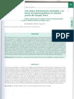 ALIMENTACION SALUDABLE - Conocimientos y factores asociados