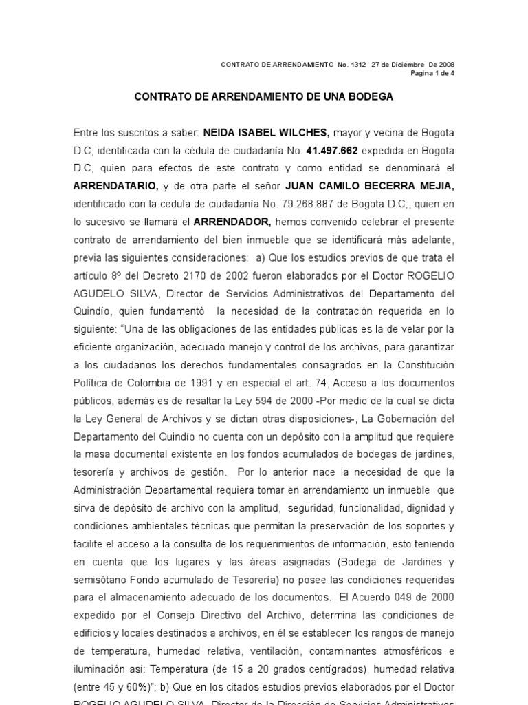 Encantador Plantilla Para Contrato De Alquiler Colección de Imágenes ...