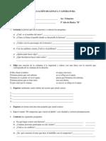 EVALUACIÓN DE LENGUA Y LITERATURA LUCI CHAMORRO