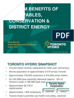 System Benefits of Renewables, Conservation & District Energy - Joyce McLean, Toronto Hydro