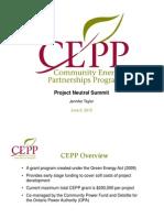 Community Energy Partnerships Program - Jennifer Taylor, CEPP
