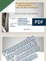 la produccion exportable de consumo interno
