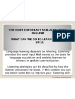 The Most Important Skills to Learn English