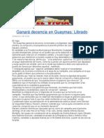 Ganará decencia en Guaymas