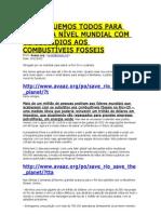 FIM DOS SUBSÍDIOS AOS COMBUSTÍVEIS FOSSEIS