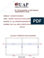 DISEÑO Y CALCULO DE LOSA ALIGERADA