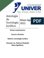 Antologia de Sociologia Juridica. Lic. Dolores Elizabeth Meza Aguillares. Sistema Sabatinopdf
