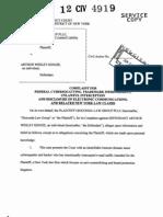 Gioconda Law Group PLLC v Arthur Wesley Kenzie Complaint