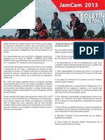 Boletín Nº1 - EIS JamCam 2013