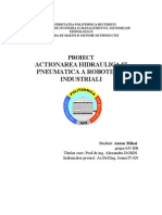 Actionarea Pneumatica a Robotilor Industriali Proiect