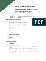 Estudio de Impacto Ambiental El Morro