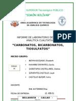 Informe de Quimica Analitica Carbonatos