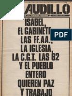 Revista El Caudillo. Buenos Aires, Nº 46, octubre, 1974, año II
