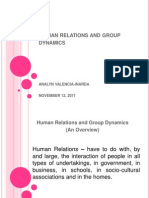 Human Relations and Group Dynamics
