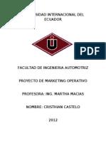 Proyecto de Marketing Operativo