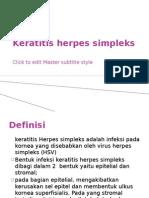 Keratitis Herpes Simpleks