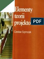 C. Szymczak - Elementy Teorii Projektowania