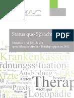 Status quo Sprachtherapie (lerniversum, Juni 2012)