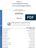 Analysis of Budget FY12 ( by CPD)