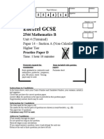 2544_Higher_non Calculator Paper D