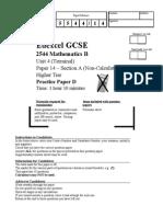2544_Higher_non Calculator Paper D