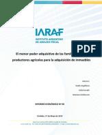 IARAF – El menor poder adquisitivo de las familias para la adquisición de inmuebles –may10-