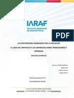 IARAF – Las distorsiones generadas por la inflación en los impuestos a las ganancias