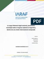 IARAF – La carga tributaria legal sobre el ingreso salarial en Argentina