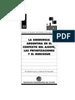 Azpiazu, D. & Basualdo, E. - La Siderurgia Argentina en El Contexto Del Ajuste, Las Privatizaciones y El Mercosur