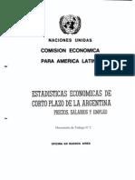 CEPAL - Estadisticas Economica de Argentina. Precios, Salarios y Empleo -1983