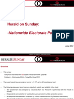 Herald on Sunday - Nationwide Political Poll Outputs - 22nd Jun 2012