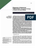 Abdominal Tb Sonographic Features