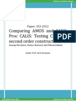 Comparing AMOS and SAS Proc CALIS