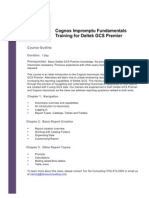 Cognos Impromptu Fundamentals Training for Deltek GCS Premier
