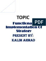 Funtional Implementation Thakur