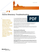 Active Directory Troubleshooting WorkshopPLUS (4 Days)