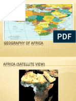 Geography of Africa Pwr Pt