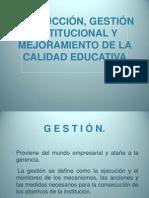 3.5 Conducción, gestión institucional y mejoramiento de la calidad educativa