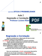 PDF Aula 2 Regressao e Correlacao Linear