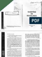 bourdieu. questões de sociologia