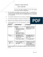 Equity Guidelines (FAQ) (2009)