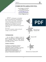 Transistores de Polarizacion Fija