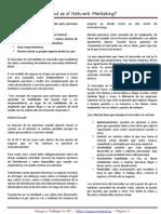 1. Que Es El Network Marketing p1-4
